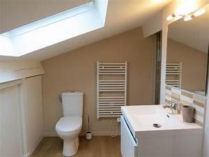 suite parentale avec salle de bain sous comble With plan salle de bain sous comble