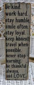 Always stay humble and kind farmhouse style pinterest for What kind of paint to use on kitchen cabinets for christian wall art with scripture