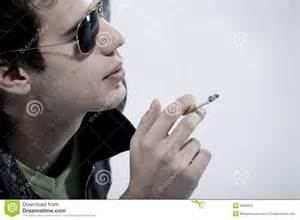 boy smoking a cigarette stock image image of lifestyles