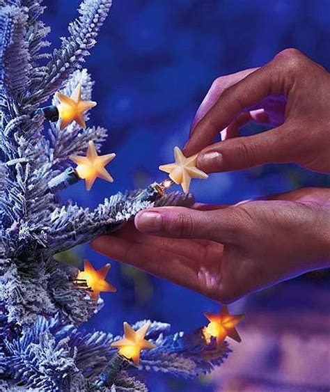 christmas tree decor set of 50 silicone star shaped string