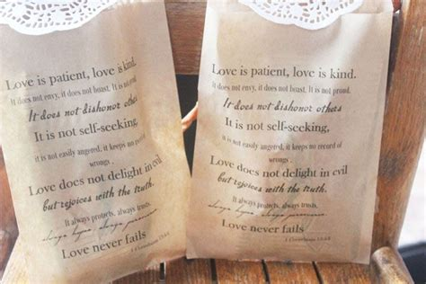 5 christian wedding ideas for your reception receptions bags and bible quotes
