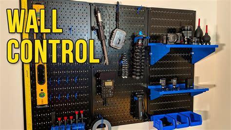 wall control pegboard organizer  gear youtube