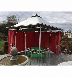 Pavillon 3 X 3 : pavillon kiosk 3 x 3 m mit blechdach verzinkt metallmichl ~ Orissabook.com Haus und Dekorationen