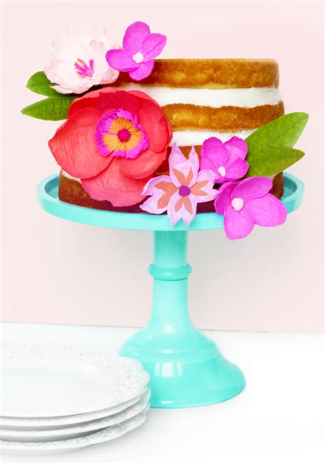 diy paper flower cake topper sugar cloth