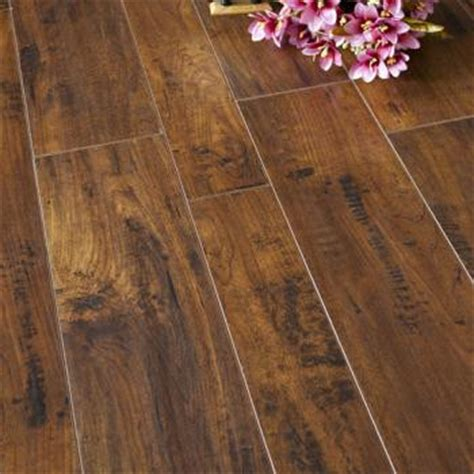 red mahogany mm water resistant laminate flooring home