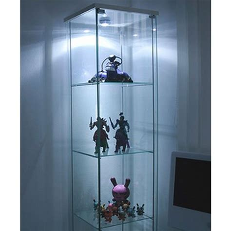 glass curio cabinet with lights ikea detolf glass curio display cabinet white light is