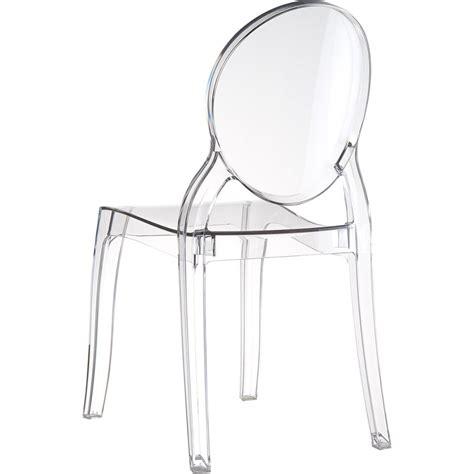 chaise transparentes chaise elizabeth transparente médaillon en polycarbonate