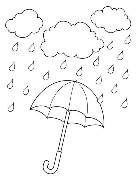 rain coloring pages   print rain coloring pages