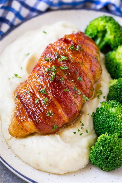 bacon wrapped chicken dinner   zoo
