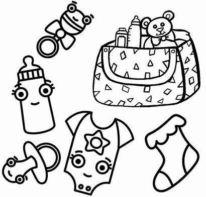 Coloring Toys Clothes Bag Pages Accessories
