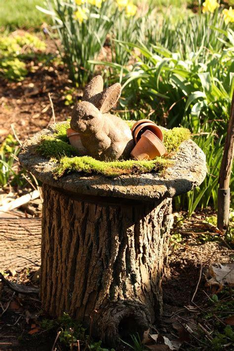 Tree Stump Decorating Ideas - 81 best tree stump ideas images on fairies