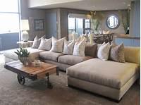 oversized sectional sofas Furniture: Cozy Living Room Using Stylish Oversized ...