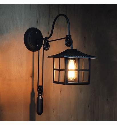 Japanese Wall Lamp Hoshi Industrial Lights Lighting
