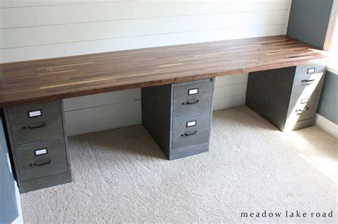 diy corner desk with file cabinets butcher block desk top butcher block desk custom desk