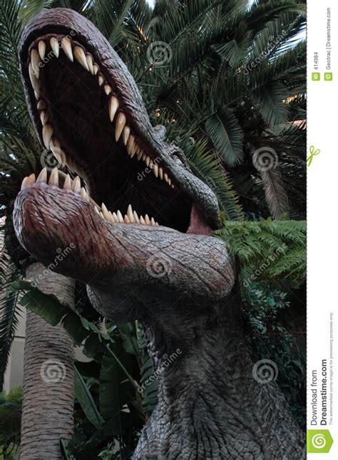 interno bocca all interno di una bocca enorme dei dinosauri fotografia