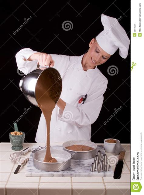 pouring cake batter stock photo image