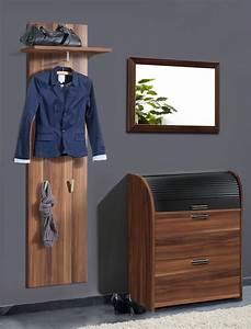 Garderobe 3 Teilig : garderobe nussbaum 3 teilig garderobenset wandpaneel schuhschrank spiegel ottawa ebay ~ Indierocktalk.com Haus und Dekorationen