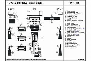 2006 Toyota Corolla Dash Kits