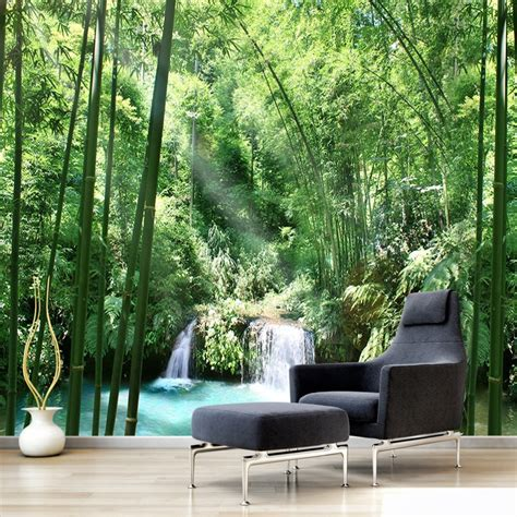 custom  wall murals wallpaper bamboo forest natural
