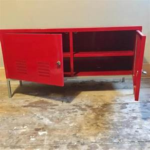 Buffet Metal Ikea : ikea retro red metal sideboard cabinet storage unit ps cowes wightbay ~ Teatrodelosmanantiales.com Idées de Décoration