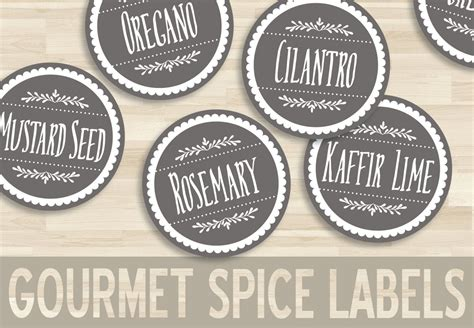 printable spice labels  circle sticker