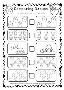 Greater Than Less Than Worksheet  Free , Spring Themed Worksheets