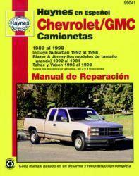 auto repair manual free download 1998 chevrolet suburban 1500 navigation system manual de reparacian chevrolet gmc camionetas haynes 1988 al 1998 suburban blazer jimmy tahoe