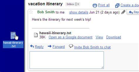 gmail bureau gmail glisser déposer les pièces jointes sur le bureau