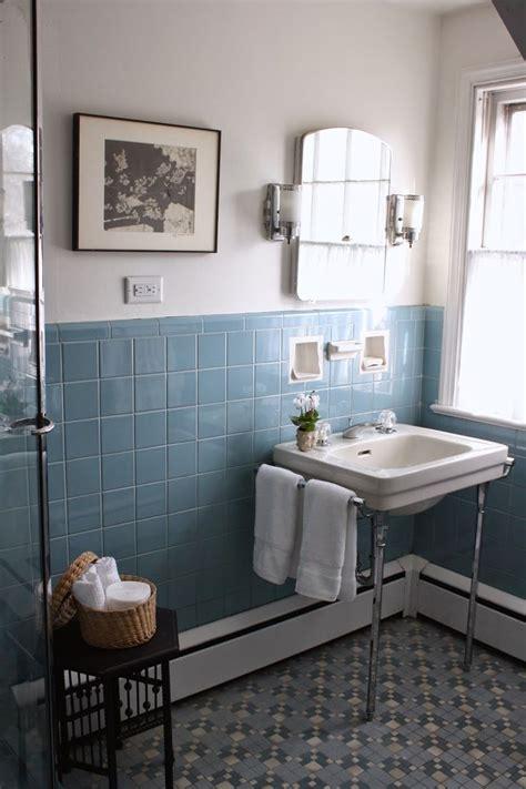Bad Unterschrank Vintage by Pre Spruce Up The Vintage Blue Tile Bathroom