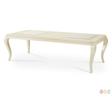 modern table l set michael amini after eight studio modern dining table set