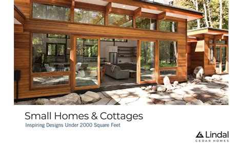 small homes cottages volume   lindal cedar homes issuu