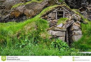 Ruins Of A Traditional Icelandic Turf House Stock Photo ...