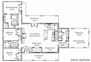Floor Plan And Elevations For The New House