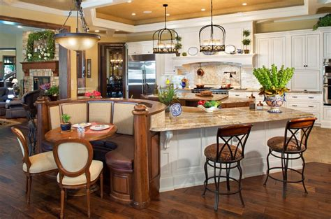 kitchen island with built in table built in kitchen table ideas kitchen traditional with