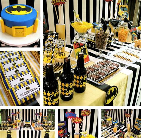 Super Heroes Batman Birthday Party Ideas  Photo 1 Of 13