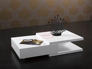 Table Basse Blanche Pas Cher : table basse blanche pas cher ~ Teatrodelosmanantiales.com Idées de Décoration