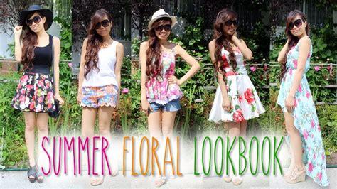Summer Fashion Lookbook u2665 Floral Print Outfit Ideas - YouTube