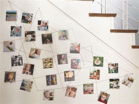 Flur Gestalten Familie by Diy Fotowand Fotos Der Familie Mit W 228 Scheklammern Am