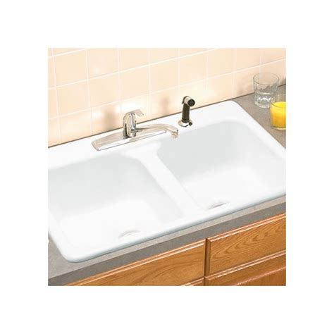 eljer kitchen sinks faucet 2121089 96 in biscuit by american standard 3554