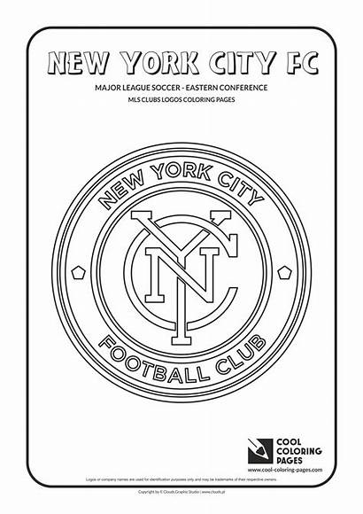Coloring Pages York Fc Logos Soccer Mls
