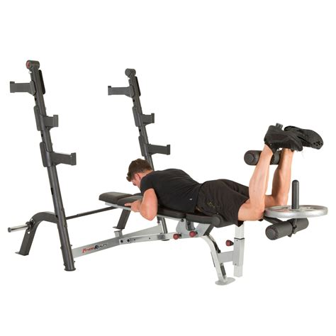 amazoncom fitness reality  class olympic weight bench  olympic preacher curl leg