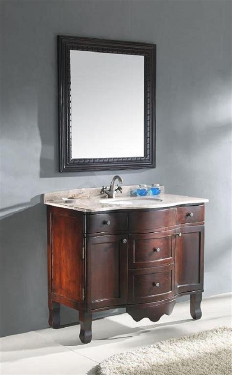 traditional single bathroom vanity  cherry