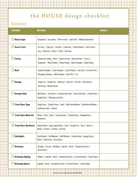 home design checklist house design checklist see my new home design checklist
