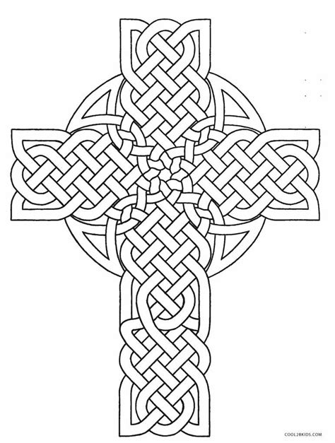 printable cross coloring pages  kids coolbkids