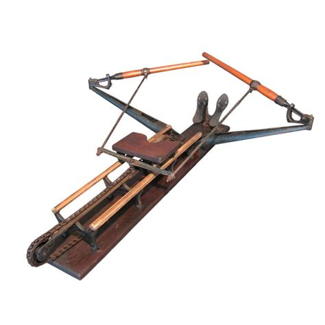 19th C Cast Iron Rowing Machine By Spalding At 1stdibs