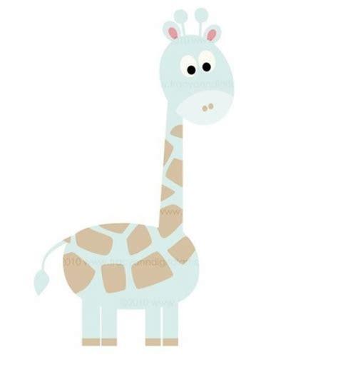 Baby Blue Giraffe Clipart