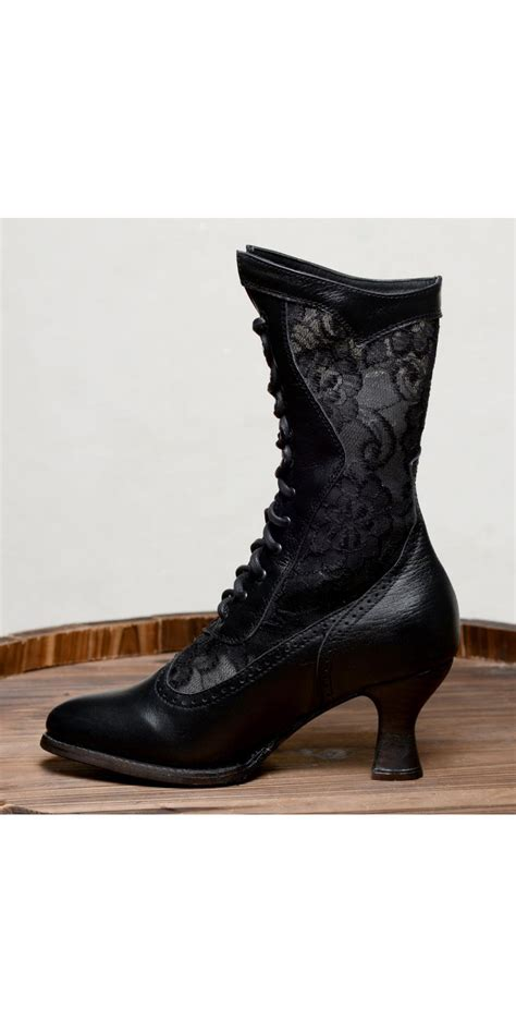 victorian inspired boots  black