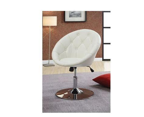 contemporary tufted white swivel chair coaster