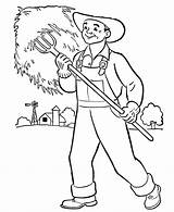 Coloring Pages Preschool Community Farmers Helpers Farm Printable Books Farmer Collecting Colouring Sheets Grow Hat Grass Wouldn Kid Citizen Took sketch template