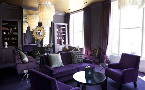 purple livingroom decorating with purple
